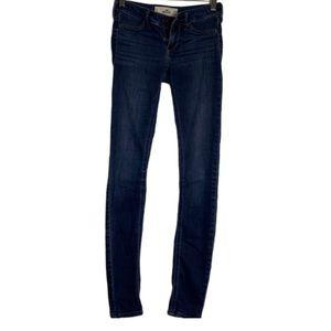 Hollister denim skinny super soft jeans